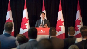 Prime Minister Justin Trudeau speaks to supporters at a Liberal Party fundraising event in Toronto on Wednesday, June 28, 2017. THE CANADIAN PRESS/Chris Young