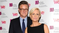 "In this April 22, 2013 file photo, MSNBC's ""Morning Joe"" co-hosts Joe Scarborough and Mika Brzezinski, right, attend the 2013 Matrix New York Women in Communications Awards at the Waldorf-Astoria Hotel in New York. (Photo by Evan Agostini/Invision/AP)"