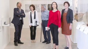 Martin Wikaira, Hershi Kirshenbaum , Martin Fallick, Maia Wikaira and Rachel Wikaira (left-right) visit the Every. Now. Then: Reframing Nationhood exhibition at the Art Gallery of Ontario in Toronto on Thursday June 29, 2017. Toronto couple who found refuge from a devastating earthquake in the home of perfect strangers on the other side of the world is playing host to their benefactors and relishing the chance to keep building a firm foundation for a friendship begun on shaky ground. THE CANADIAN PRESS/Chris Young