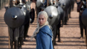 "This file publicity image released by HBO shows Emilia Clarke as Daenerys Targaryen in a scene from ""Game of Thrones."" THE CANADIAN PRESS/AP-HO, HBO, Keith Bernstein"