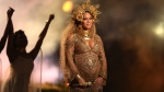 This Feb. 12, 2017, file photo shows Beyonce performing at the 59th annual Grammy Awards in Los Angeles. Beyonce debuted her newborn twins Sir Carter and Rumi in an Instagram post on July 13, 2017. (Photo by Matt Sayles/Invision/AP, File)
