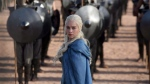 """This file publicity image released by HBO shows Emilia Clarke as Daenerys Targaryen in a scene from """"Game of Thrones."""" Viewers anxiously awaiting the return of """"Game of Thrones"""" can get an early start on the action with a lesson in High Valyrian. THE CANADIAN PRESS/AP-HO, HBO, Keith Bernstein"""