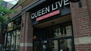 The Queen Live Food Market is pictured.