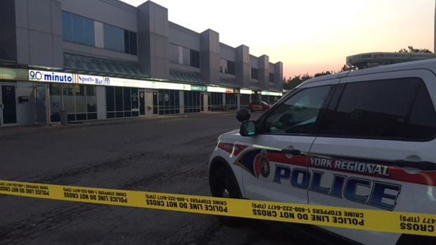 Police are investigating a shooting outside a Woodbridge sports bar on Monday night. (Cristina Tenaglia/ CP24)