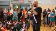 Musical artist and actor Common speaks with students at Renaissance School of the Arts Thursday, July 20, 2017 in New York. (Photo by Amy Sussman/Invision for Burlington Stores/AP Images)