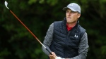 Jordan Spieth of the United States plays off the 5th tee during the first round of the British Open Golf Championship, at Royal Birkdale, Southport, England Thursday, July 20, 2017. (AP Photo/Dave Thompson)