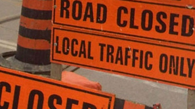 Road closures today for the Scotiabank Toronto Waterfront Marathon