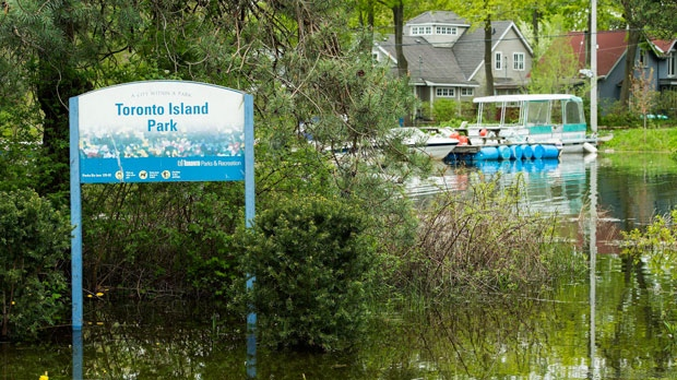 Flooded Toronto Islands are threatened by rising water levels and more floods in Toronto on Friday, May 19, 2017. THE CANADIAN PRESS/Nathan Denette