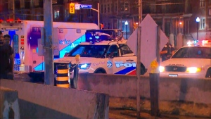 Police investigate after a woman was struck by a vehicle at Eglinton and Victoria Park avenues.