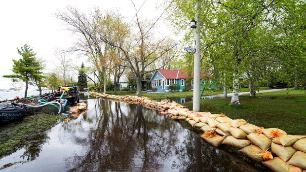 Sand Bags Keep Water From Flooding The Land More As Toronto Islands Are Threatened By Rising Levels In On Friday May 19 2017