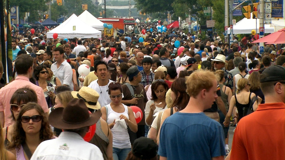 Visitors of Toronto's Taste of the Danforth festival are seen here in this undated photo. (CTV News Toronto)