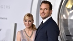 "In this Dec. 14, 2016, file photo, Chris Pratt, right, and Anna Faris arrive at the Los Angeles premiere of ""Passengers""at the Village Theatre Westwood. (Photo by Jordan Strauss/Invision/AP, File)"