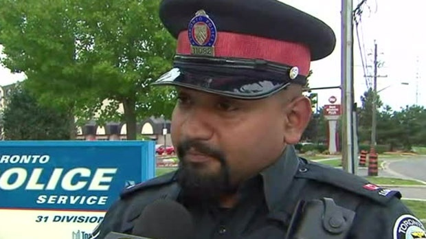 Const. Niran Jeyanesan spoke to CP24 about why he decided to buy a shirt and tie for a shoplifter at Walmart.