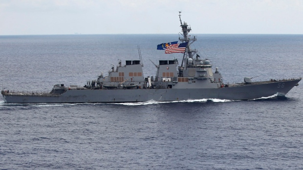 U.S.  warship challenges China's claims in South China Sea