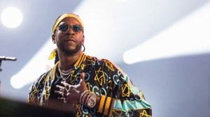 In this Sept. 3, 2016, file photo, 2 Chainz performs at The Budweiser Made In America Festival in Philadelphia. 2 Chainz took the stage in Tuscon in a pink wheelchair Wednesday, Aug. 9, 2017, 11 days after he said he broke his leg. (Photo by Michael Zorn/Invision/AP, File)