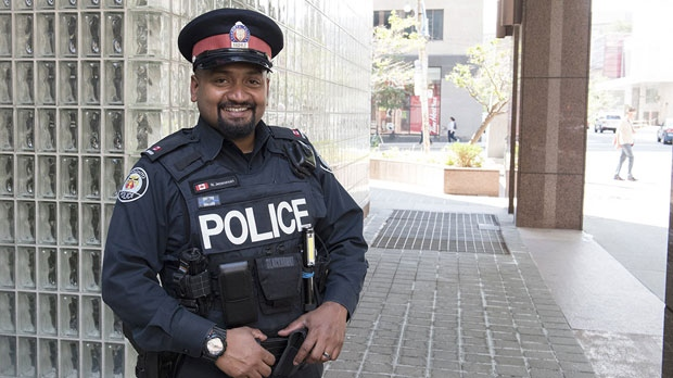 Const. Niran Jeyanesan is seen in this undated photo. (Toronto police)