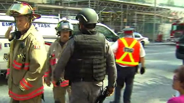 Emergency crews were on the scene at Bloor-Yonge Station on Sunday.