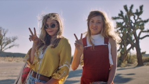 "Aubrey Plaza (right) as Ingrid and Elizabeth Olsen as Taylor are shown in a scene from the film ""Ingrid Goes West."" THE CANADIAN PRESS/HO-NEON"