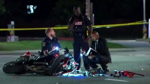 Peel Regional Police are investigating after a collision happened in Mississauga involving a motorcycle and a vehicle.