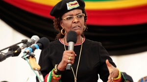 In this Feb. 21, 2017 file photo, Zimbabwean first lady Grace Mugabe is shown. (AP Photo/Tsvangirayi Mukwazhi, File)