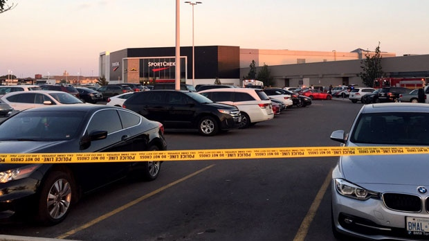 Emergency officials have blocked an area after a shooting took place at Sherway Gardens Plaza.
