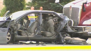 Two people were critically injured following a crash in Brampton on Thursday morning.