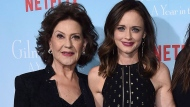 """Kelly Bishop, from left and Alexis Bledel arrive at the premiere of """"Gilmore Girls: A Year in the Life"""" on Friday, Nov. 18, 2016 ,in Los Angeles. THE CANADIAN PRESS/AP-Photo by Jordan Strauss/Invision/AP"""