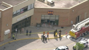 Car into mall