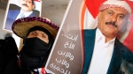 In this March 26, 2016 file photo, a supporter of former Yemeni President Ali Abdullah Saleh holds his photo during a rally in Sanaa, Yemen.  (AP Photo/Hani Mohammed, File)