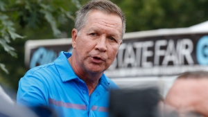 In a July 27, 2017 file photo, Ohio Gov. John Kasich speaks at a news conference at the Ohio State Fair, in Columbus, Ohio. (AP Photo/Jay LaPrete, File)