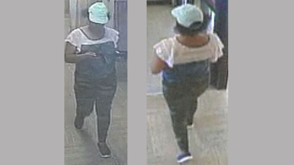 Security camera images of Virgil Jack, taken at around 2:30 p.m. on Aug. 18, 2017, are pictured. (Handout /Toronto police)