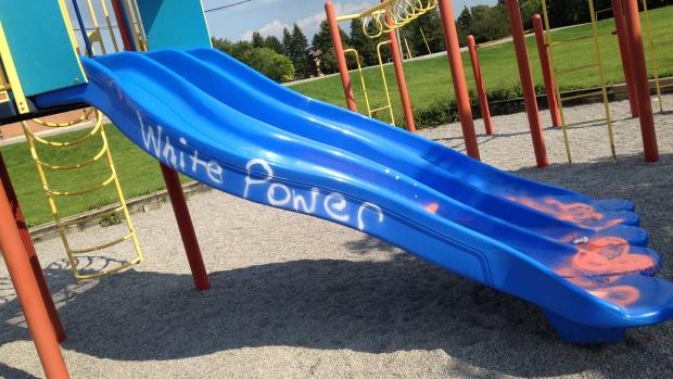 White power graffiti Markham