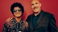 Bruno Mars and Bruno Sammartino are seen meeting each other for the first time in Pittsburgh. (Instagram)