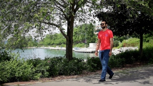 Former Guantanamo Bay prisoner Omar Khadr, 30, is seen in Mississauga, Ont., on July 6, 2017. Former Guantanamo Bay detainee Omar Khadr returns to court this week to ask that his bail conditions be eased, including allowing him unfettered contact with his controversial older sister, more freedom to move around Canada, and unrestricted internet access. THE CANADIAN PRESS/Colin Perkel