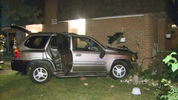 Driver facing charges after SUV slams into front of Rexdale home