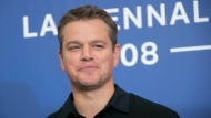 Actor Matt Damon poses for photographers at the photo call of the film 'Downsizing' during the 74th edition of the Venice Film Festival in Venice, Italy, Wednesday, Aug. 30, 2017. (Photo by Joel Ryan/Invision/AP)