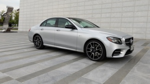 The 2018 Mercedes E43 AMG sedan is seen in an undated image. (Shari Prymak)
