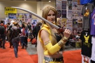 A participant at Fan Expo Canada shows off her outfit in downtown Toronto Saturday September 2, 2017. (Joshua Freeman /CP24)