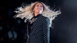 In this Nov. 4, 2016 file photo, Beyonce performs at a Get Out the Vote concert for Democratic presidential candidate Hillary Clinton in Cleveland. (AP Photo/Andrew Harnik, File)