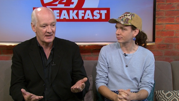 colin mochrie  kinley mochrie discuss fundraiser