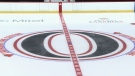 Ottawa Senators logo at centre ice