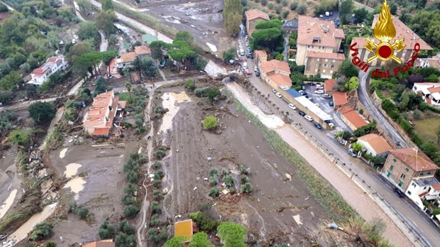 Five family members dead as torrential rain causes flooding in Italy