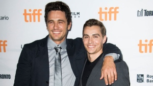 "In this Sept. 11, 2017 file photo, director James Franco, left, and his actor brother Dave Franco attend a premiere for ""The Disaster Artist"" on day 5 of the Toronto International Film Festival in Toronto. (Photo by Arthur Mola/Invision/AP, File)"