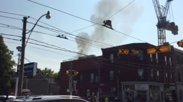 Toronto Fire is battling a one-alarm fire in the city's east end.
