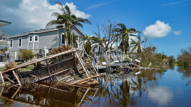 Damaged homes near Marathon, Fla., Tuesday, Sept. 12, 2017, after Hurricane Irma. Florida is cleaning up and embarking on rebuilding from Hurricane Irma, one of the most destructive hurricanes in its history. (Scott Clause/The Daily Advertiser via AP)