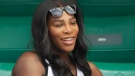 This is a May 31, 2017, file photo showing Serena Williams watching her sister, Venus Williams, play against Japan's Kurumi Nara during a second round match at the French Open tennis tournament in Paris, France. Serena Williams says on social media that she gave birth to a baby girl named Alexis Olympia Ohanian Jr. The tennis star posted about the birth on her Instagram and Twitter accounts. She says the baby was born on Sept. 1 and weighed 6 pounds, 14 ounces. (AP Photo/Petr David Josek, File)