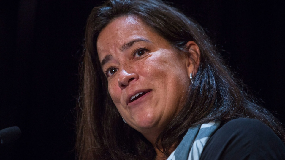 Jody Wilson-Raybould, Minister of Justice and Attorney General of Canada, makes an announcement regarding funding for seven projects that will help advance gender equality in B.C during a press conference in Vancouver, B.C., on Friday September, 2017. THE CANADIAN PRESS/Ben Nelms