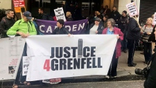 Grenfell Tower protest