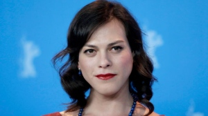 Actress Daniela Vega poses for the photographers during a photo call for the film 'A Fantastic Woman' at the 2017 Berlinale Film Festival in Berlin, Germany, Sunday, Feb. 12, 2017. (AP Photo/Michael Sohn)