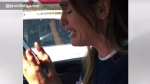 Jennifer Garner is seen speaking on the phone after a trip to the dentist. (Instagram/Jennifer Garner)